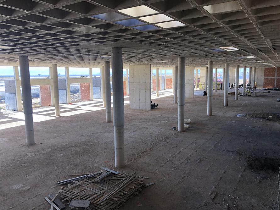 AConstruction of interior Nador airport